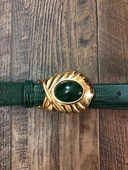 Money Green Snake Skin Belt