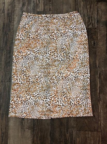 Cheetah Business Skirt