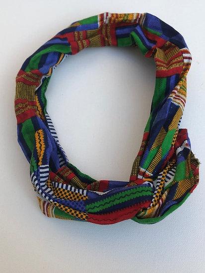 Wire Headband in Festive Kente