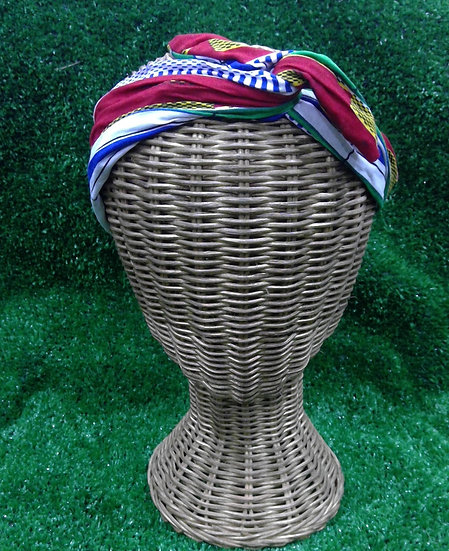 Wire Headband in Festive Stripe