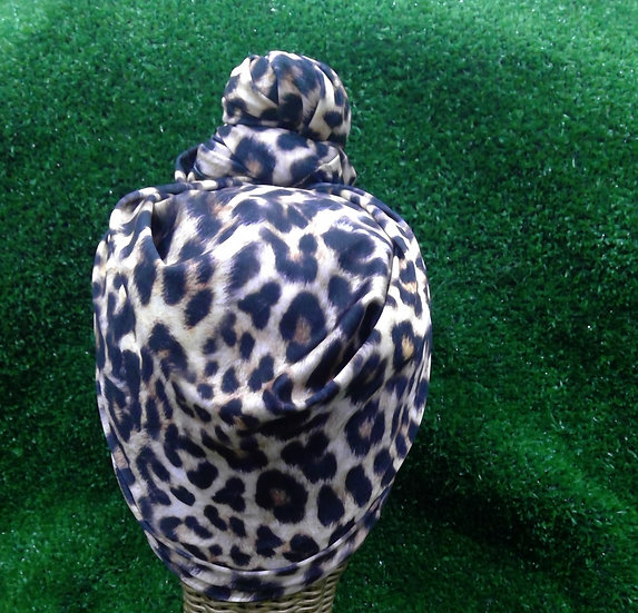 Instant turban in Cheetah
