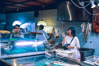 Frisk sushi i Tsukiji