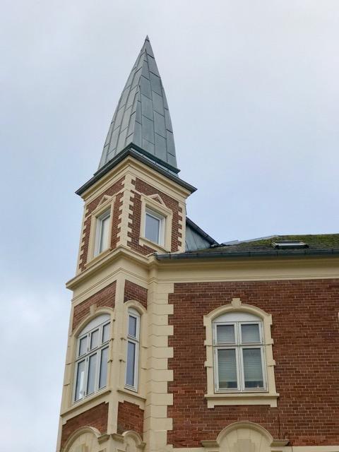 Zinktag på tårn