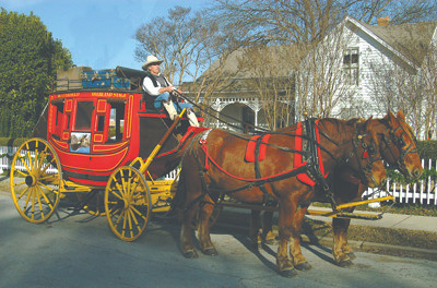 Stagecoaches are NOT just for Westerns