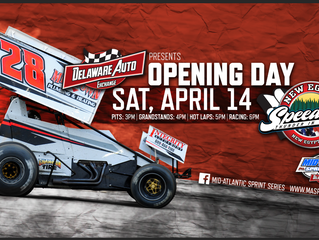 DELAWARE AUTO EXCHANGE MID-ATLANTIC SPRINT SERIES RETURNS TO NEW EGYPT SPEEDWAY ON APRIL 14TH FOR SE