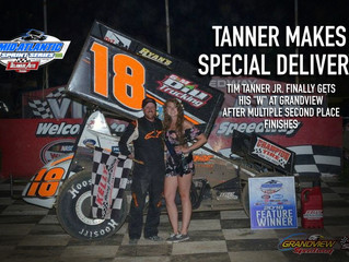 TANNER WINS MASS FEATURE AT GRANDVIEW SPEEDWAY AFTER ACTION PACKED TWENTY-FIVE LAP EVENT