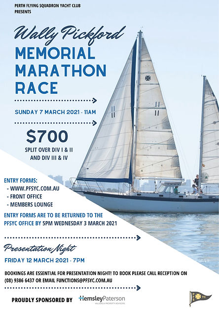 Wally Pickford Memorial Marathon Race -