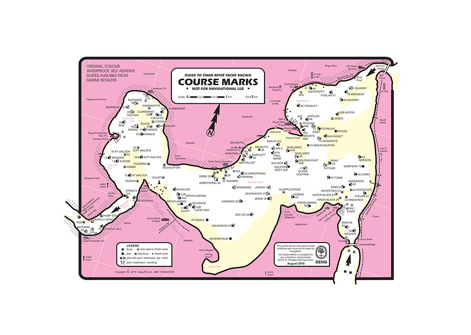 Course Marks Map -YWA  Clubs - Aug 2016