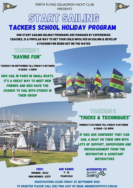 Start Sailing Tackers - September & Octo