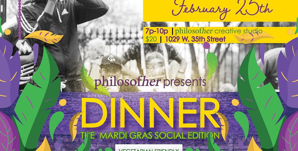dinner: The Mardi Gras Social Edition