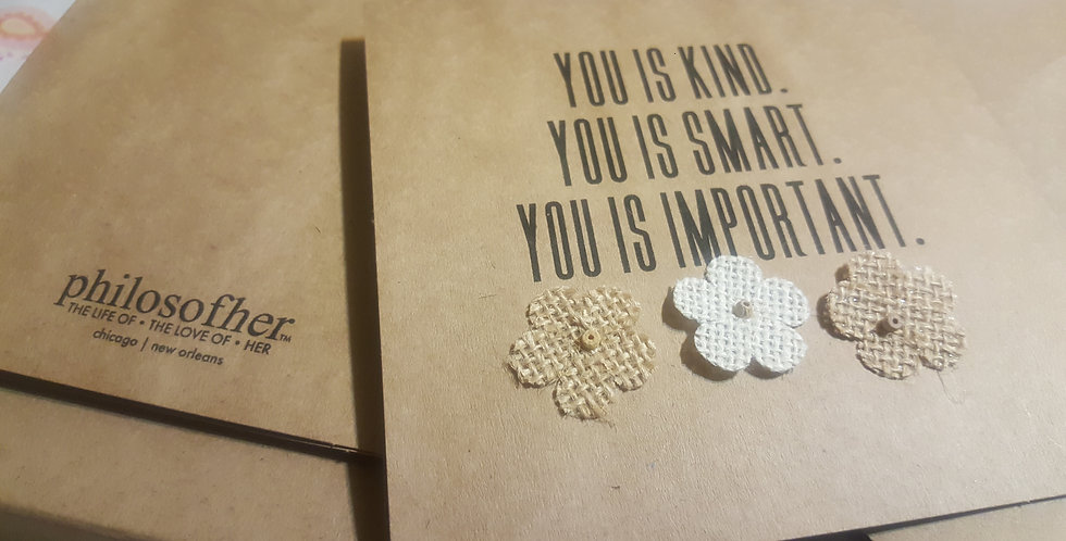 Greeting Card | Smart, Kind, Important