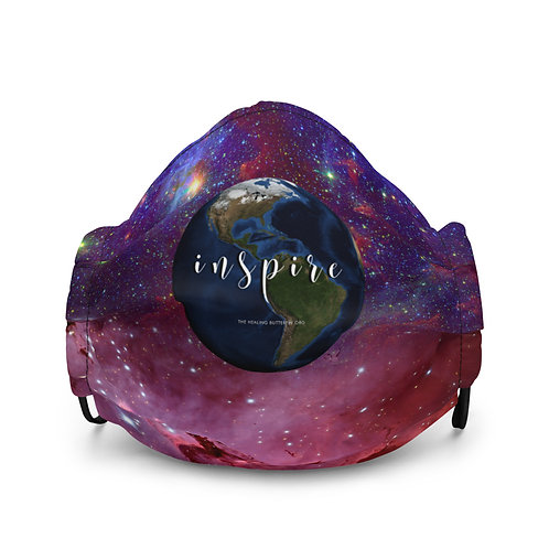 Inspire Pink & Purple Sunshine Premium Face Mask