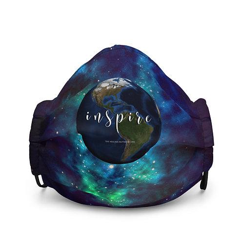 Inspire Green & Blue Sunshine Premium Face Mask