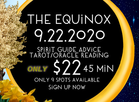A Special Event-The Equinox Gateway 9.22.2020 Tarot & Oracle Zoom One-On-One With Infiniti