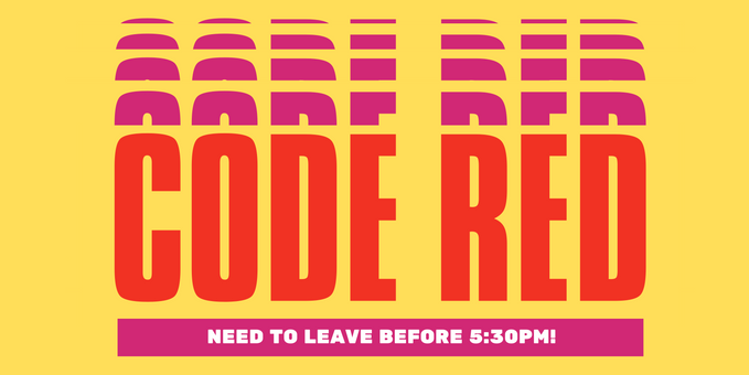 Code Red banner