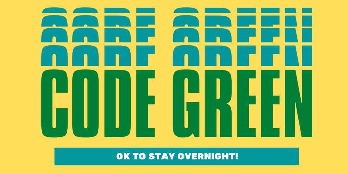Code Green banner
