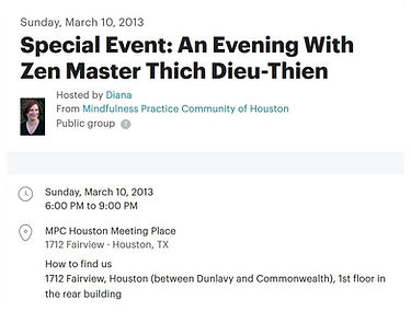 Special Event An Evening With Zen Master