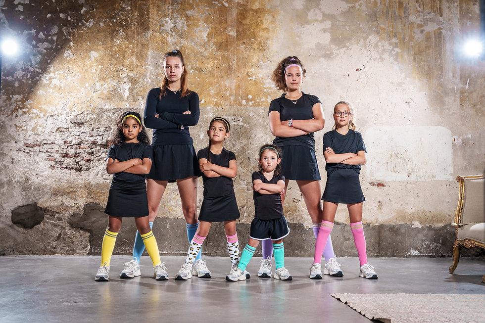 Pindahs, duurzame hockeysokken voor vrouwen en kinderen met een unieke glitterrand.