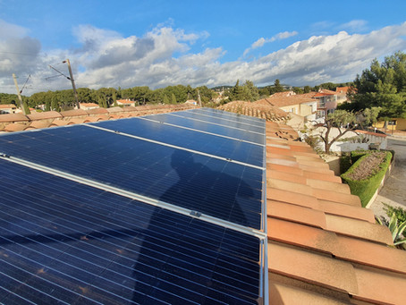 Pose de panneaux solaire Bi-verre Longi 390wc