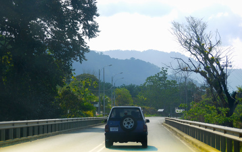 Winding morning journey in costa rica