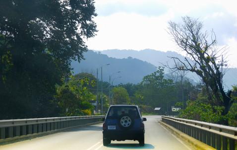 Winding morning journey in costa rica