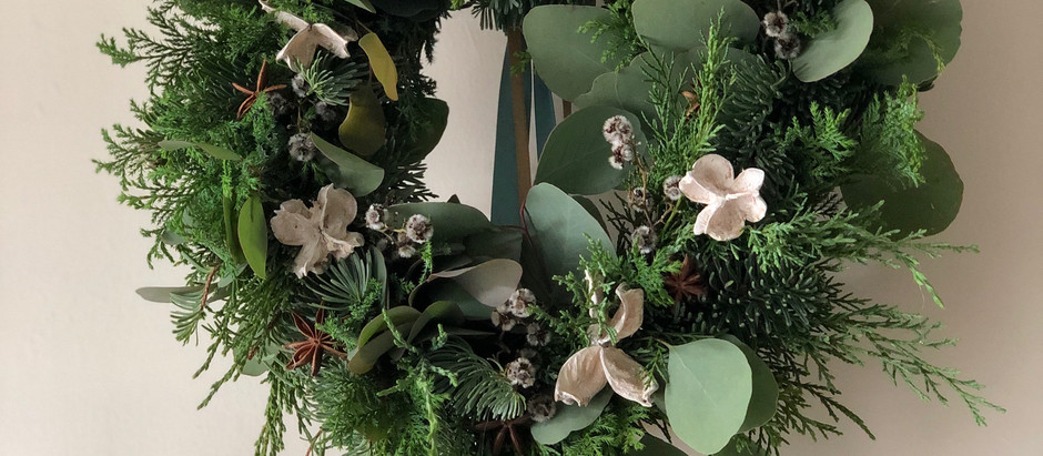 X'mas wreath lesson