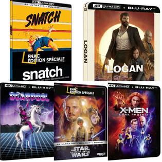 Réédition de Blu-ray 4K en Steelbook Deadpool, Logan, X-Men...