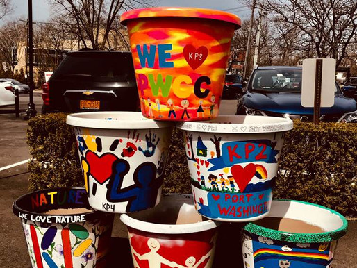 Children's Center Digs Painted Pots