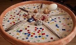 mandala-gelegt-im-sand-mit-glas-federn-muscheln-ei-und-steinen.jpg