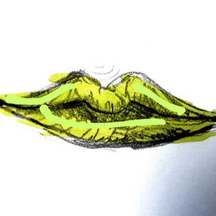 gemalte-lippen-in-gruen-und-neon