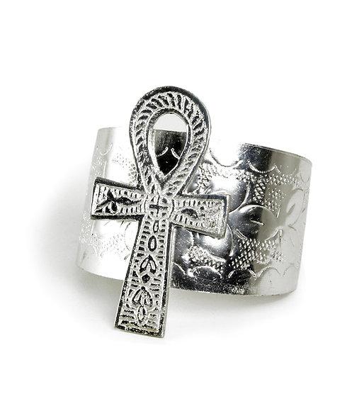 Silver Ankh Cuff