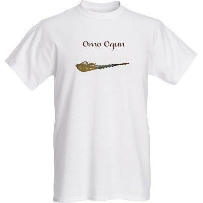 Ogun T Shirt with Traditional Cutlass