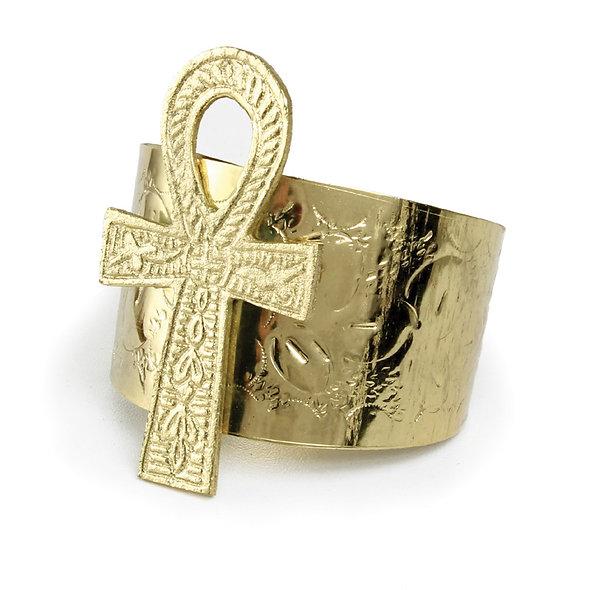 Gold Ankh Cuff