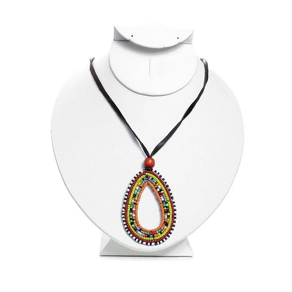 Maasai Style Beaded Necklace