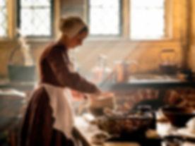 Portrait of a medieval kitchen maid. Ken