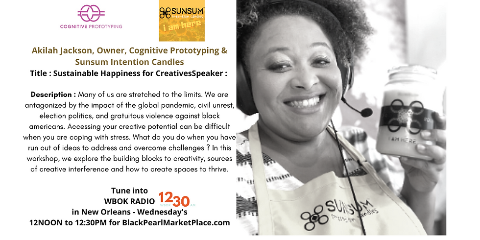 Black Pearl MarketPlace Weekly Meet Up with Cognitive Prototyping & SUNSUM
