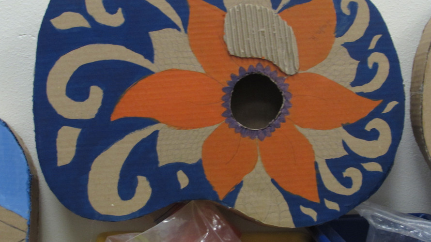 The Beginning of A Paper Guitar
