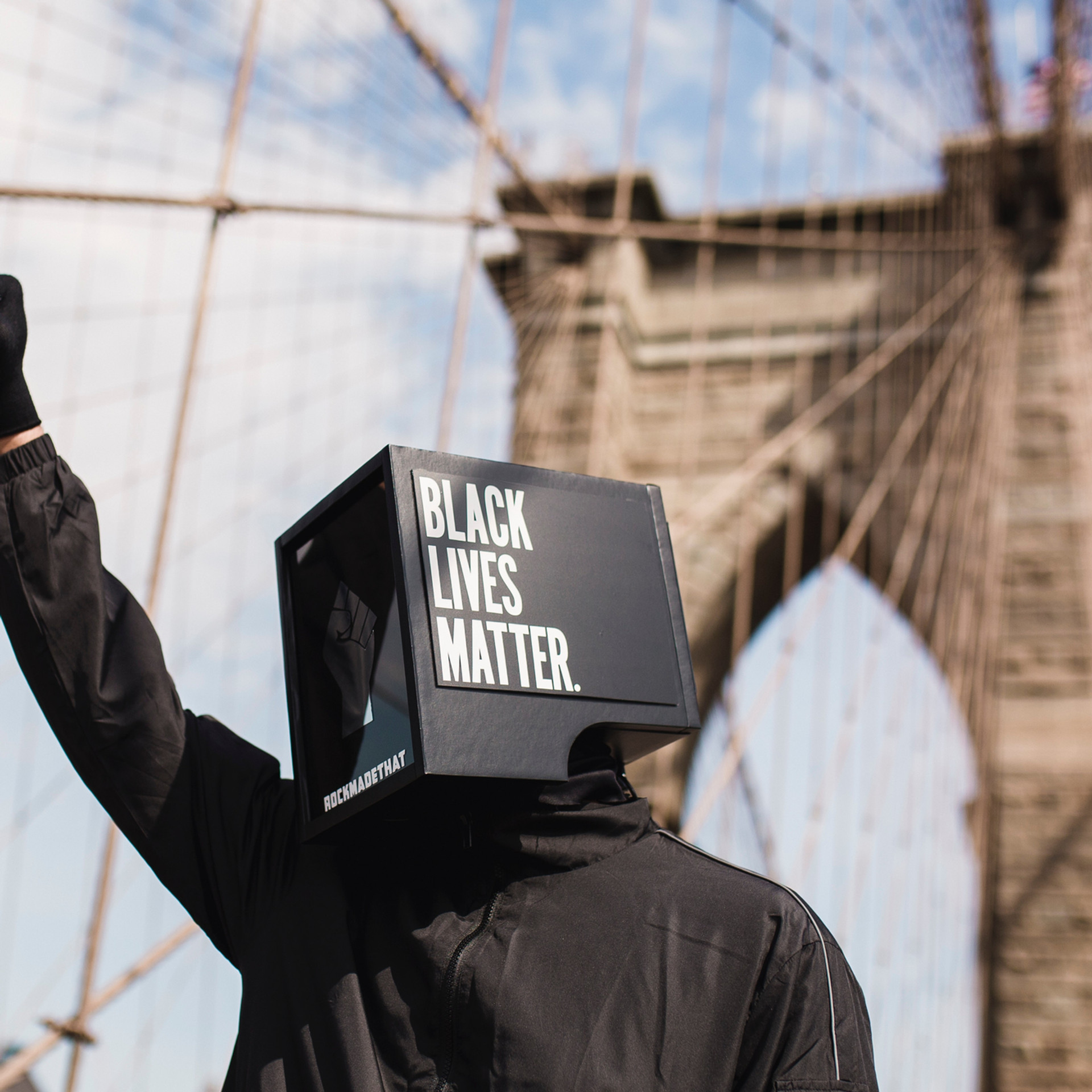 Fist Raised Across The Country Acknowledging Black Lives Matters
