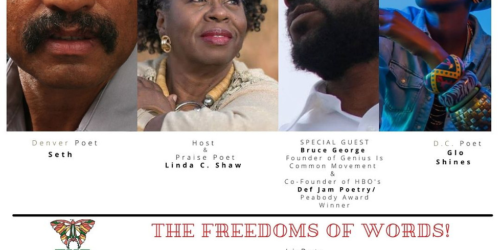 4 Poets of The Freedoms of Words  with The FREEDOM MARKET