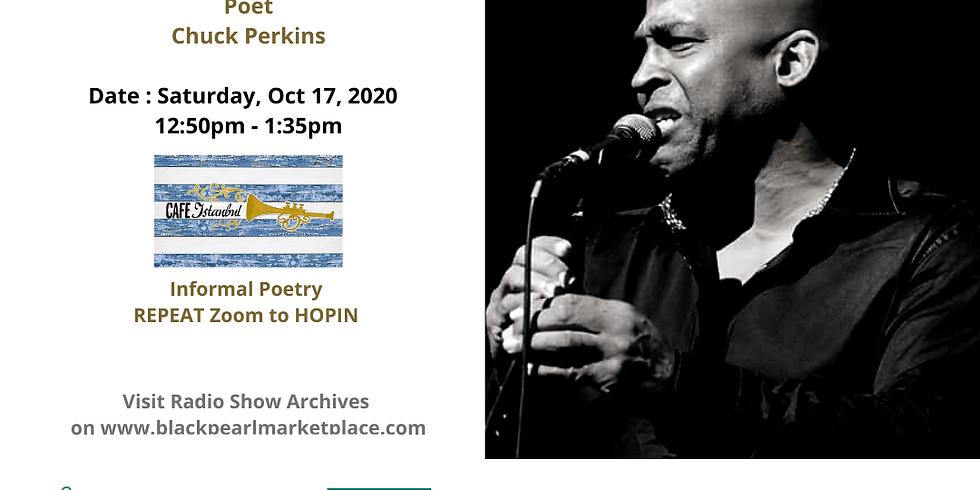 Black Pearl MarketPlace Speaker Series with Poet, Chuck Perkins