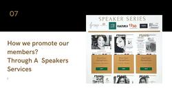 The Speakers Series Of Black Pearl MarketPlac