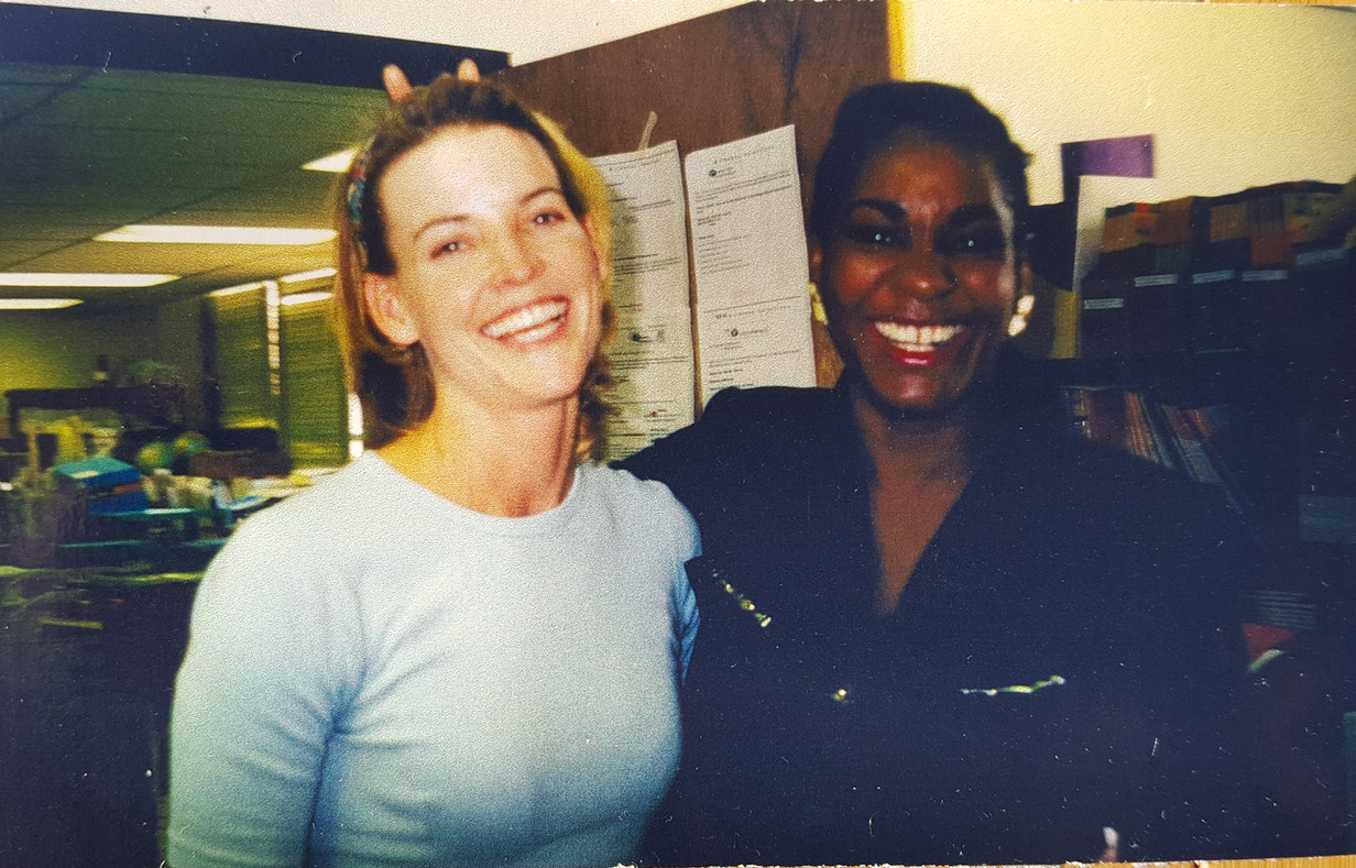 """Actress & comedian Colleen McDermott of """"As The World Turns"""" with Ms. Rogers"""