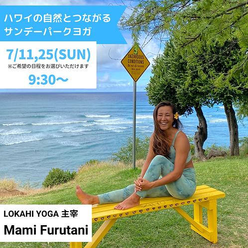 ハワイの自然とつながる サンデーパークYOGA 7月開催分(C292107)