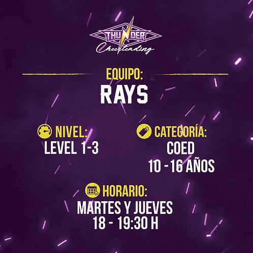 Rays - Primera mensualidad
