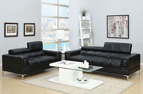 black sofa love seat