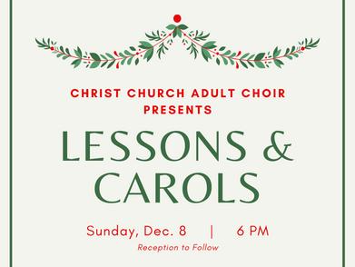 Christ Church presents Lessons & Carols on Dec. 8