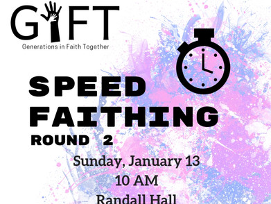 Speed Faithing for all ages!