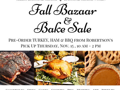 ECW Fall Bazaar & Bake Sale