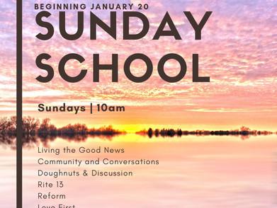 Sunday School Resumes Jan. 20th