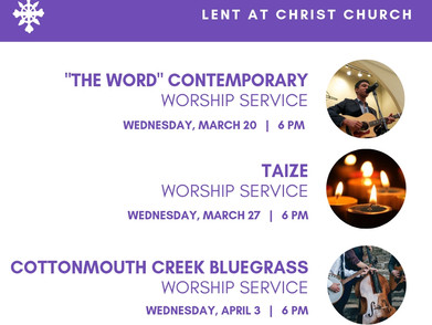 Lent at Christ Church: Wednesday Nights